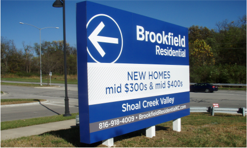 site sign, subdivision sign, directional sign