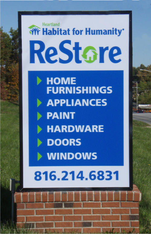 exterior identification, wall sign, vinyl graphics
