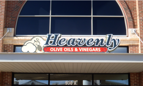 channel led. exterior sign, lighted sign