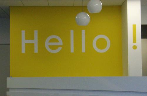 interior sign, wall sign, vinyl graphics, decor