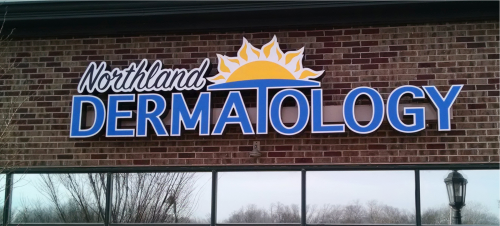 exterior identification, wall sign, channel letters, channel LED