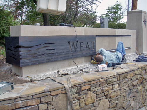 installation, monument, exterior identification