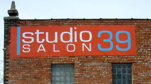 exterior identification, wall sign, vinyl graphics